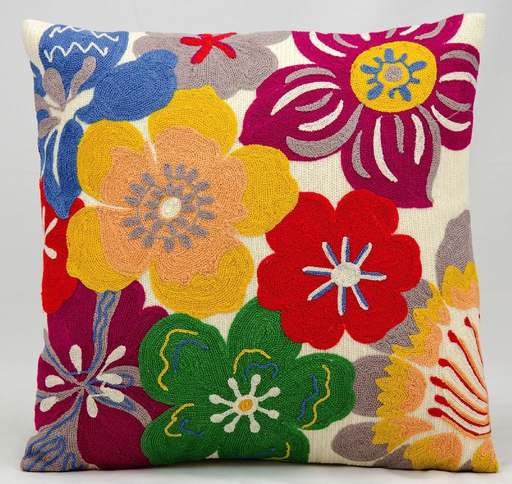 nourison wool pillow country & floral decorative pillow collection