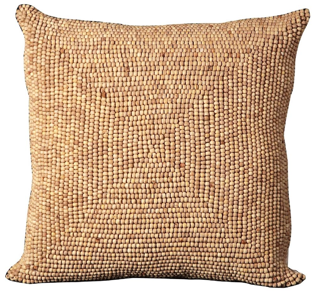 nourison wood beads pillow contemporary decorative pillow collection