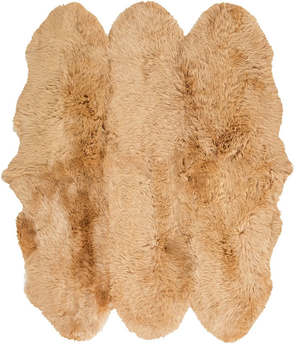 surya sheepskin country & floral area rug collection