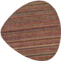 RugPal Solid/Striped Sediment Area Rug Collection