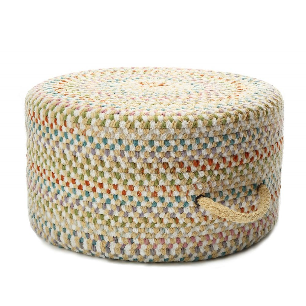 colonial mills color frenzy pouf braided pouf/ottoman collection