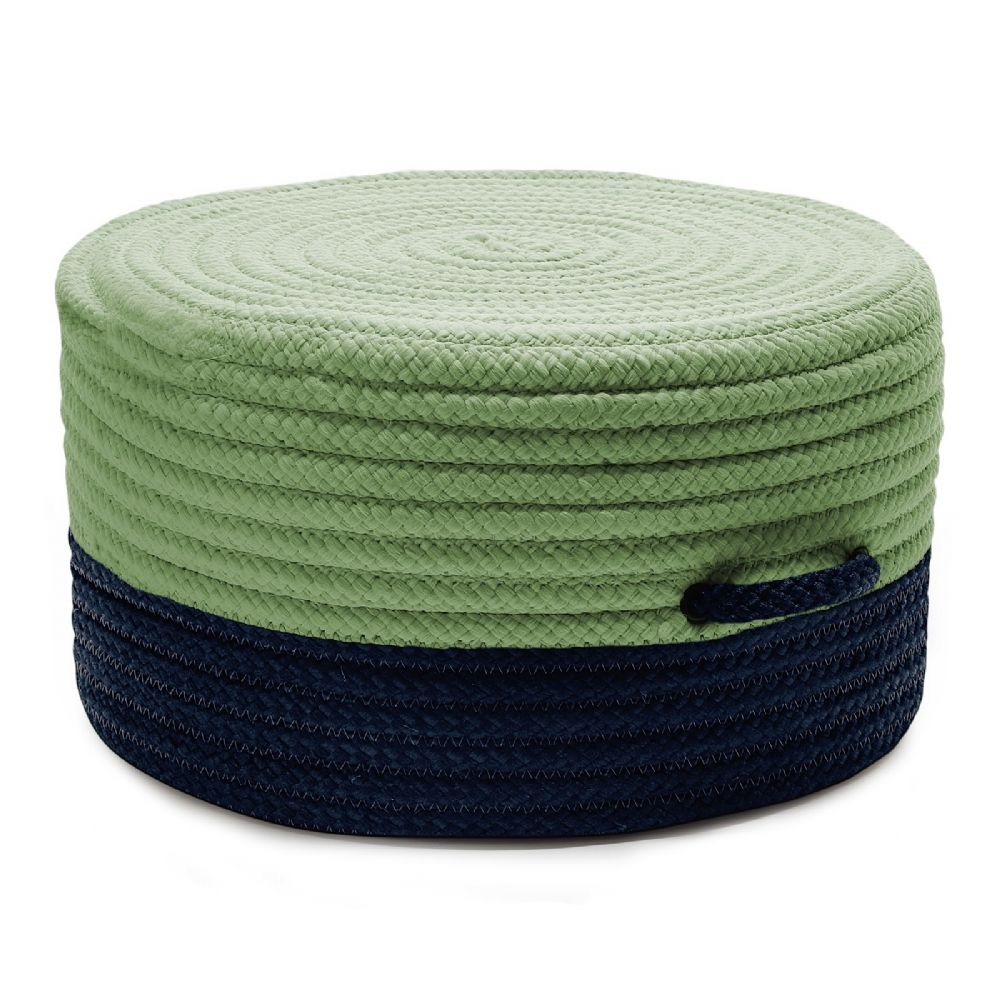 colonial mills color block pouf braided pouf/ottoman collection