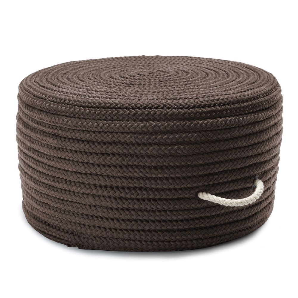 colonial mills simply home solid pouf braided pouf/ottoman collection