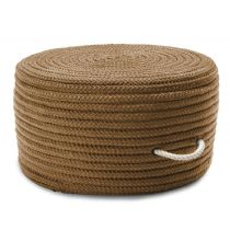 Colonial Mills Braided Simply Home Solid Pouf pouf/ottoman Collection