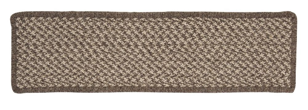 colonial mills natural wool houndstooth braided stair tread collection