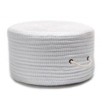 Colonial Mills Braided Ticking Fabric Stripe Pouf pouf/ottoman Collection