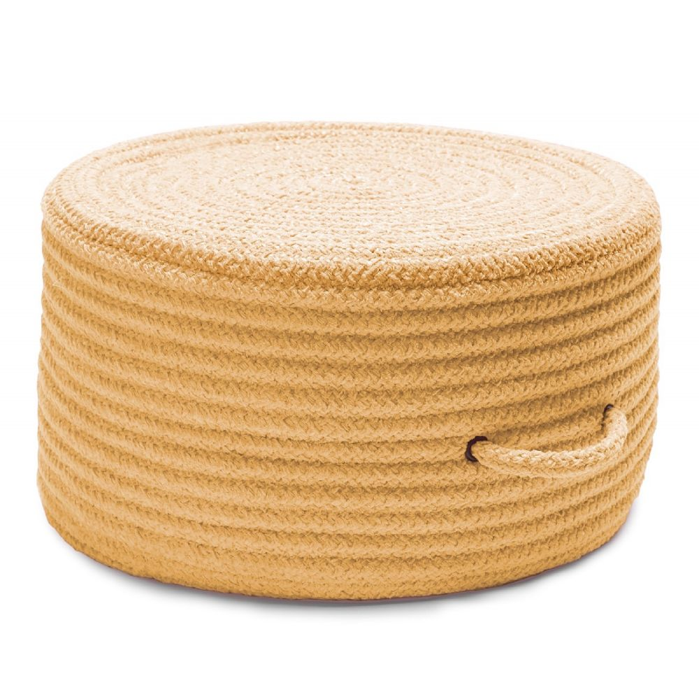 colonial mills solid chenille pouf braided pouf/ottoman collection