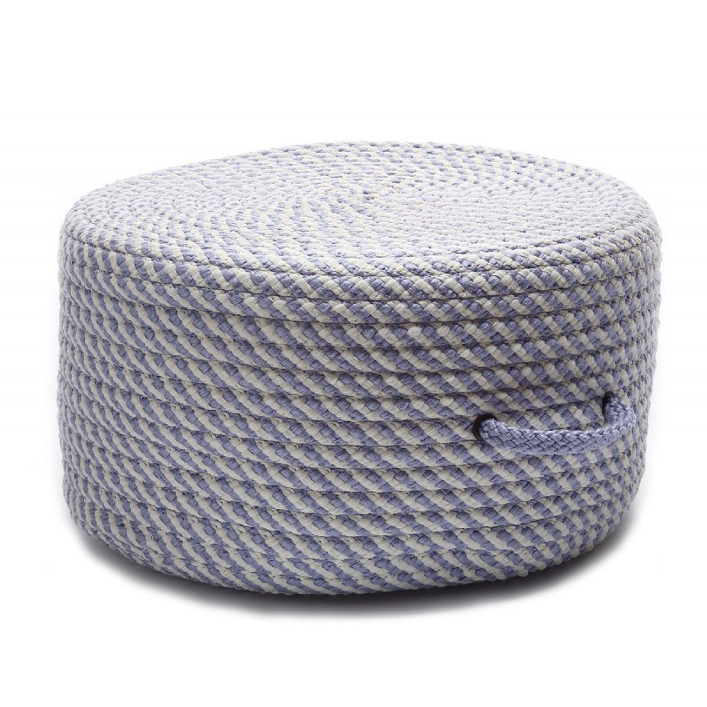 colonial mills bright twist pouf braided pouf/ottoman collection