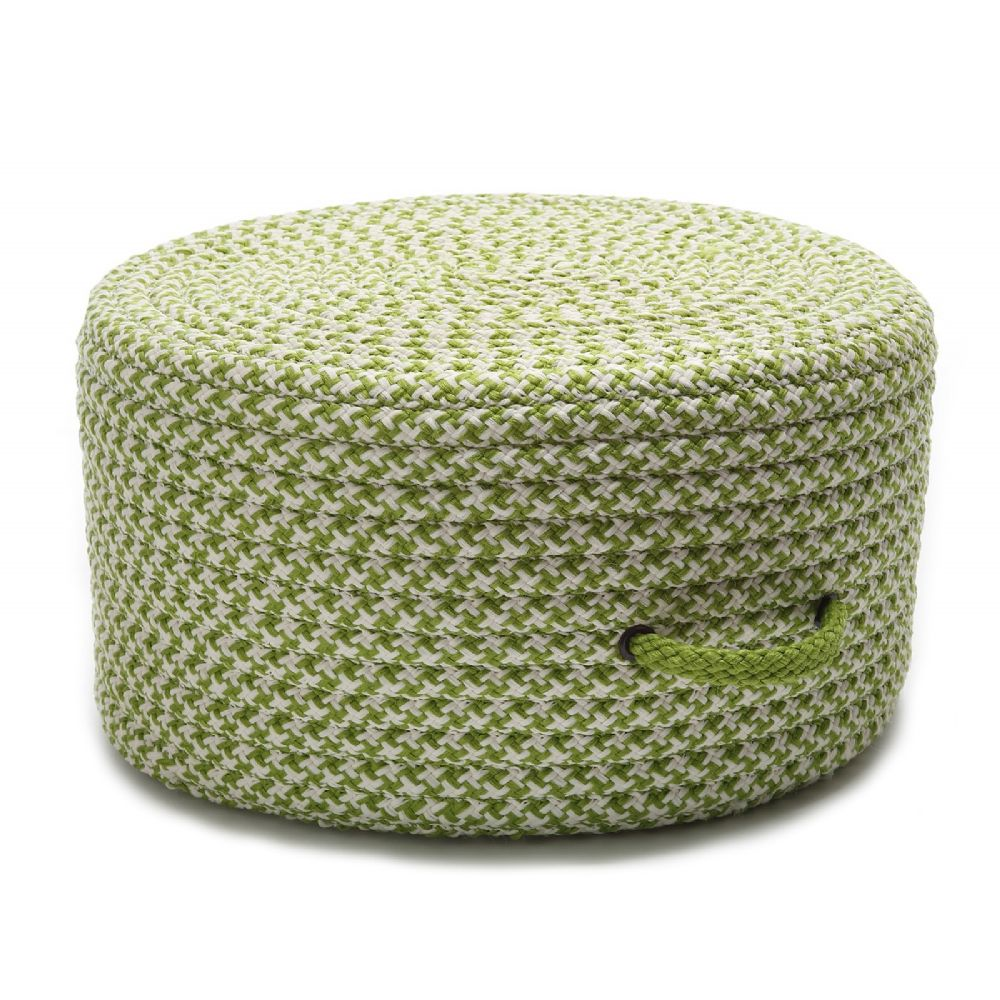 colonial mills houndstooth pouf braided pouf/ottoman collection