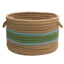 Colonial Mills Indoor/Outdoor Garden Banded Round Baskets basket Collection