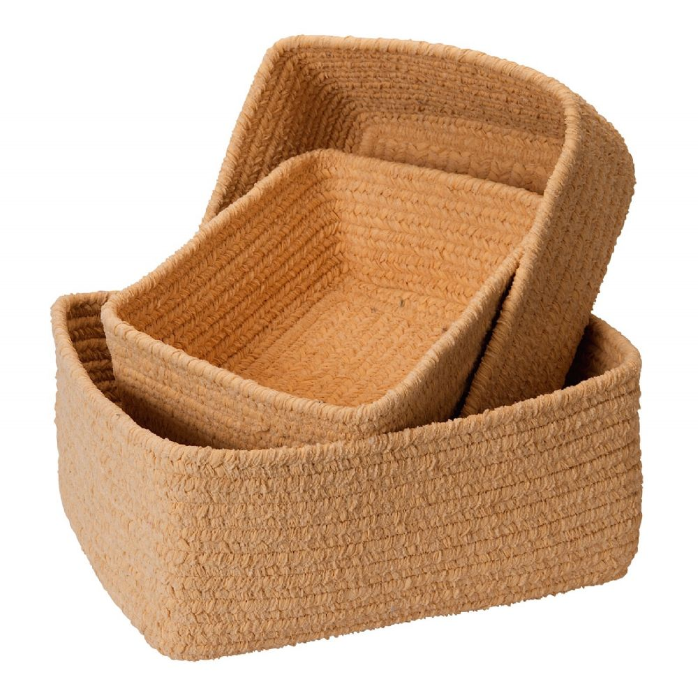 colonial mills no scratch chenille nesting set of 3 basket basket collection