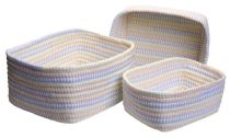 Colonial Mills Basket Ticking Stripe Set of 3 basket Collection