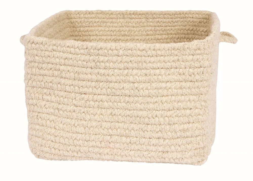 colonial mills chunky natural wool square baskets cube storage basket collection
