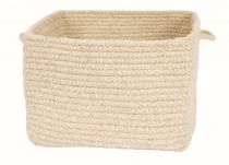 Colonial Mills Cube Storage Chunky Natural Wool Square Baskets basket Collection