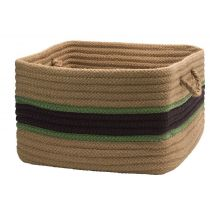 Colonial Mills Indoor/Outdoor Garden Banded Square Baskets basket Collection