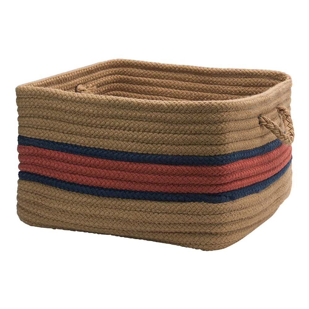 colonial mills garden banded square baskets indoor/outdoor basket collection