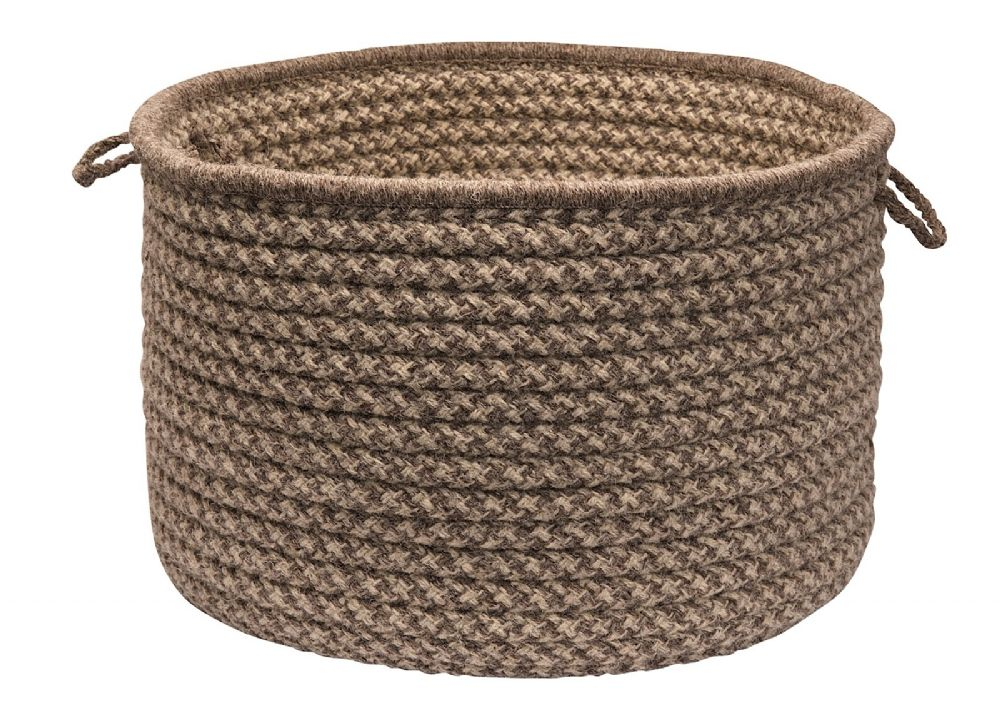 colonial mills natural wool houndstooth basket basket collection