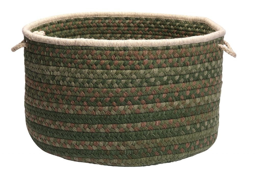 colonial mills spacedyed wool round baskets traditional basket collection