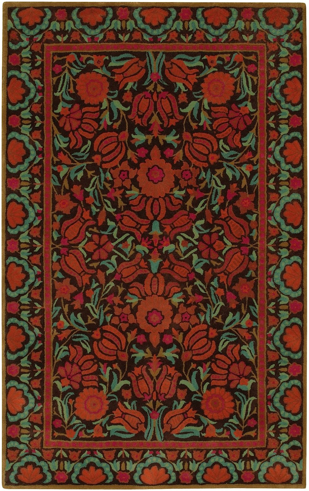 surya dazzle country & floral area rug collection