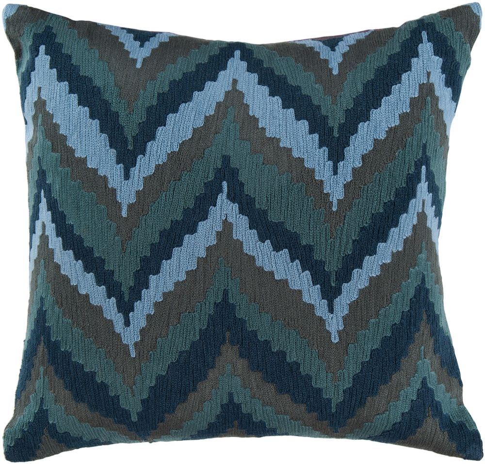 surya ikat chevron contemporary decorative pillow collection