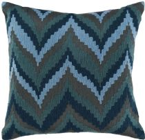 Surya Contemporary Ikat Chevron pillow Collection