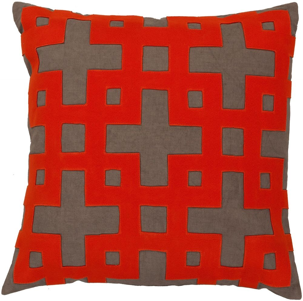 surya layered blocks contemporary decorative pillow collection