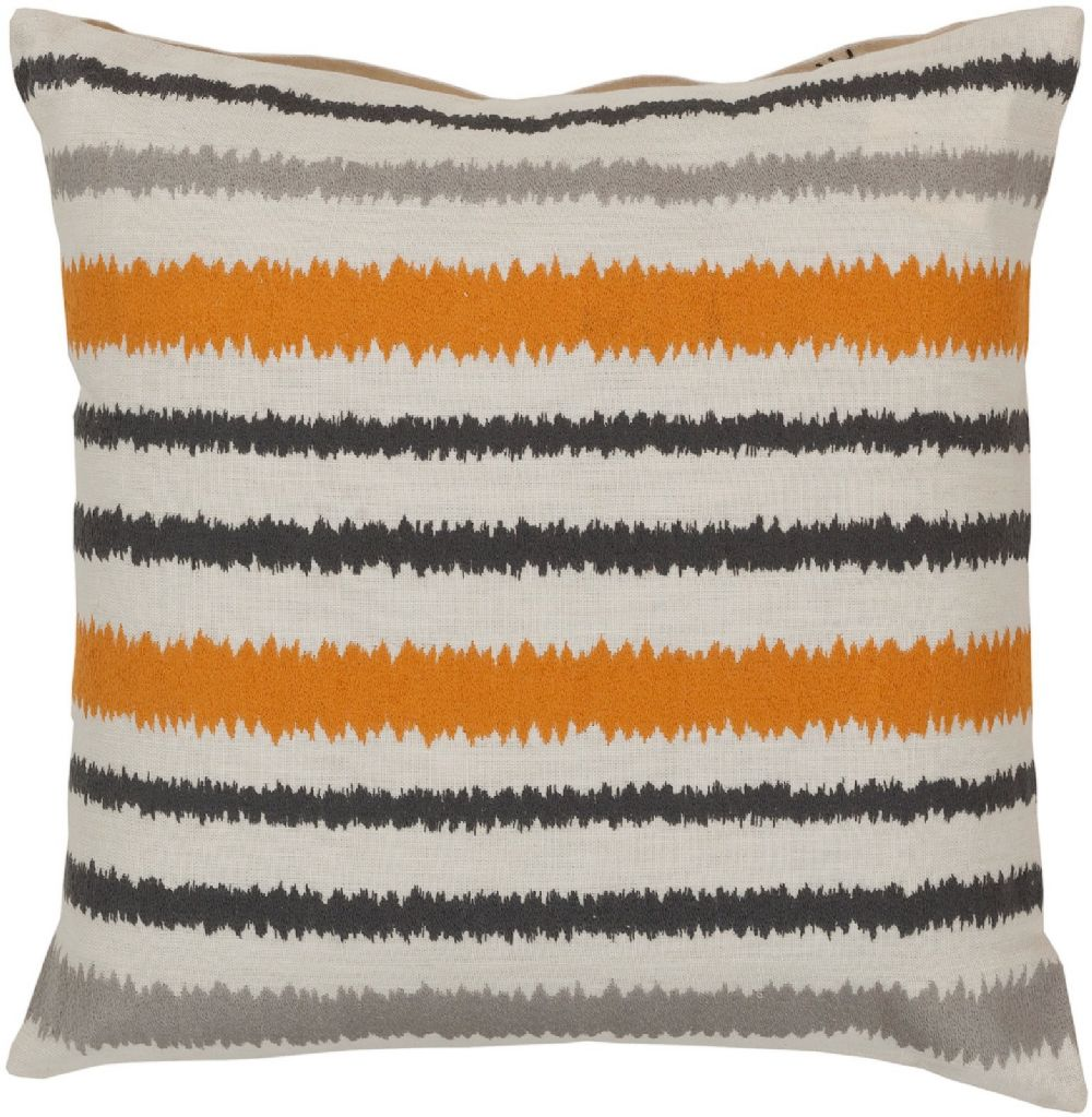 surya ikat stripe contemporary decorative pillow collection