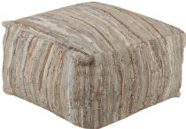 Surya Contemporary Anthracite pouf/ottoman Collection
