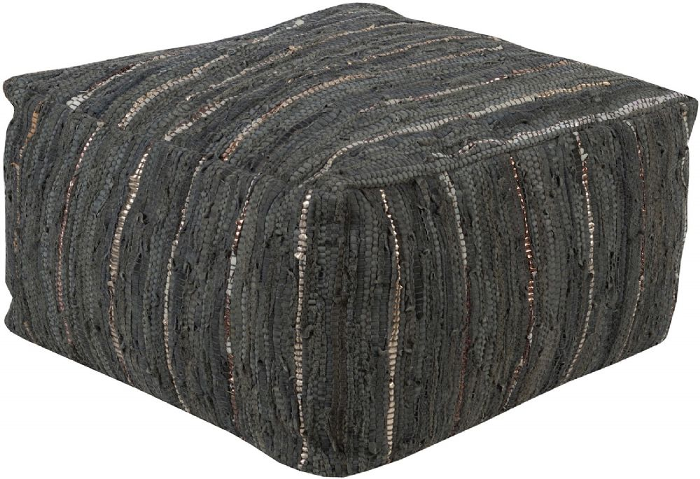 surya anthracite contemporary pouf/ottoman collection