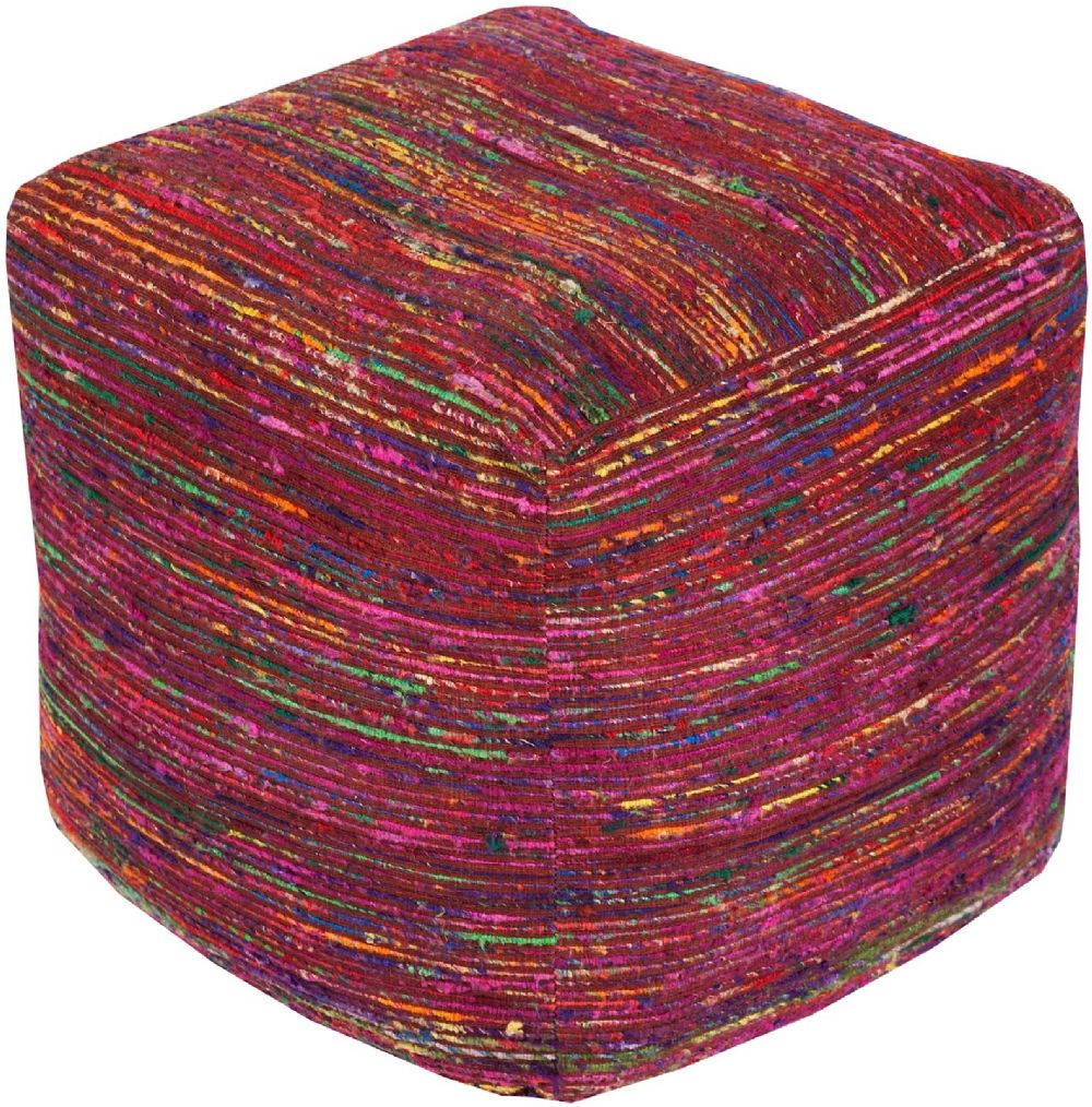 surya boho contemporary pouf/ottoman collection