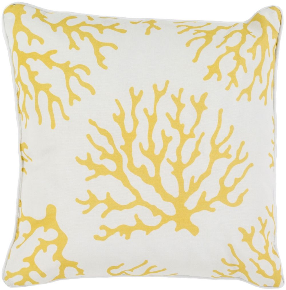surya coral contemporary decorative pillow collection