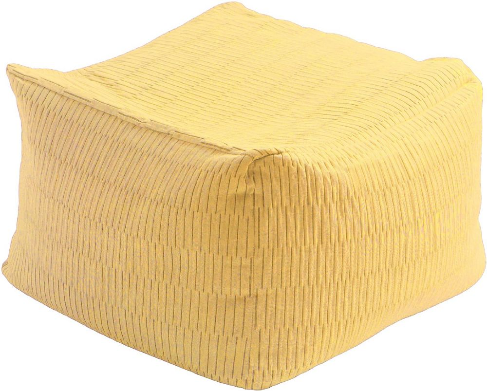 surya caplin solid/striped pouf/ottoman collection