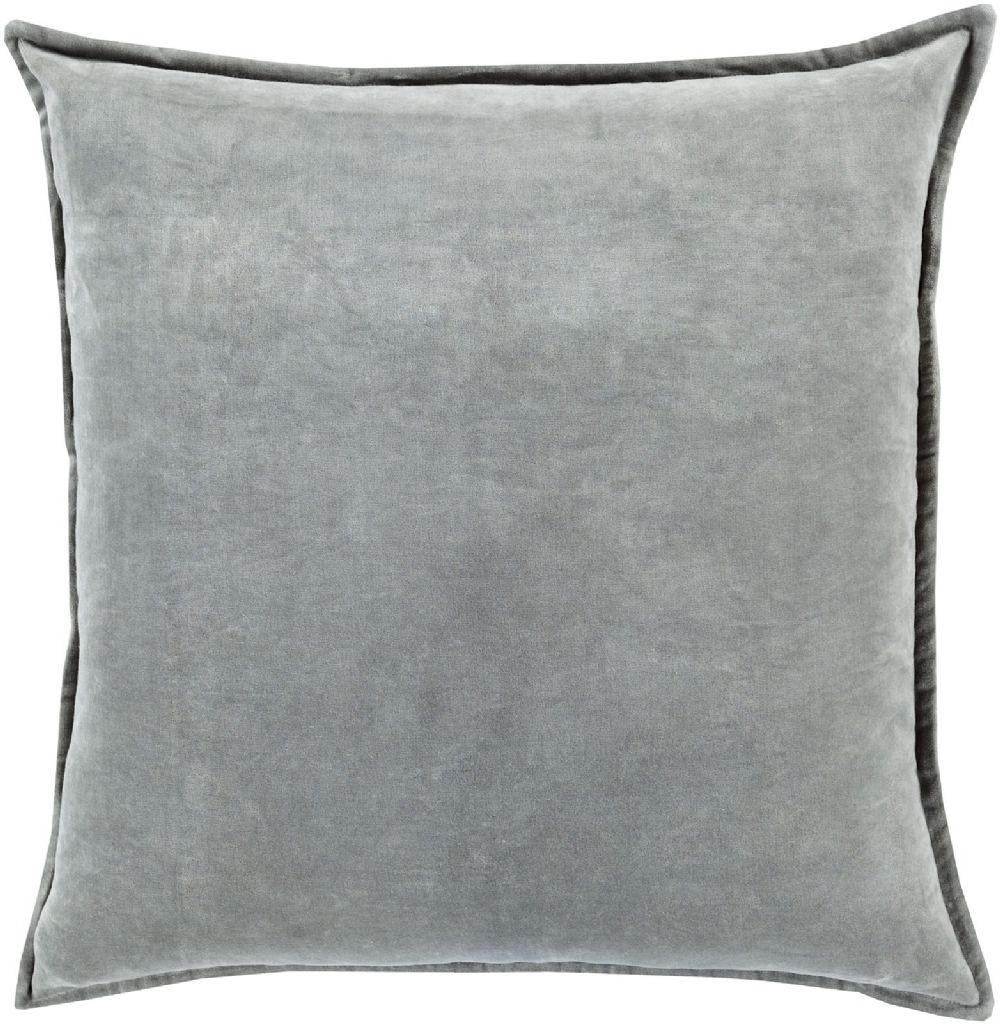 surya cotton velvet solid/striped decorative pillow collection