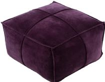 Surya Solid/Striped Cotton Velvet pouf/ottoman Collection