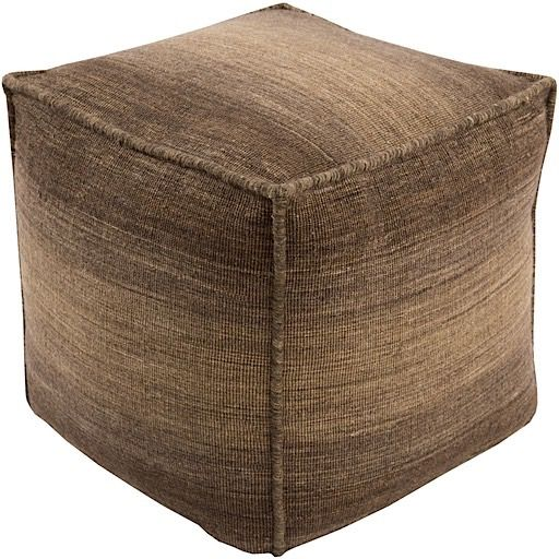 surya chaz contemporary pouf/ottoman collection