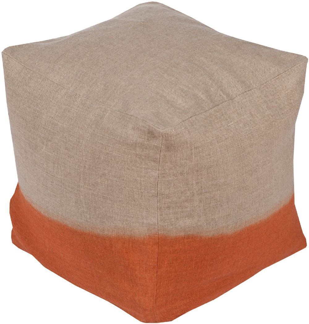 surya dip dyed contemporary pouf/ottoman collection