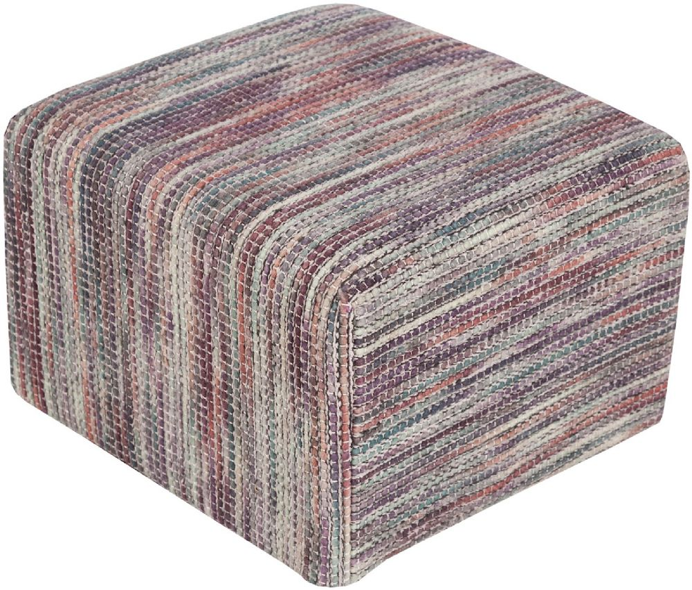 surya dahlia contemporary pouf/ottoman collection