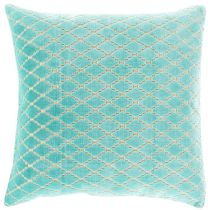 Surya Contemporary Velvet Antique Lattice pillow Collection