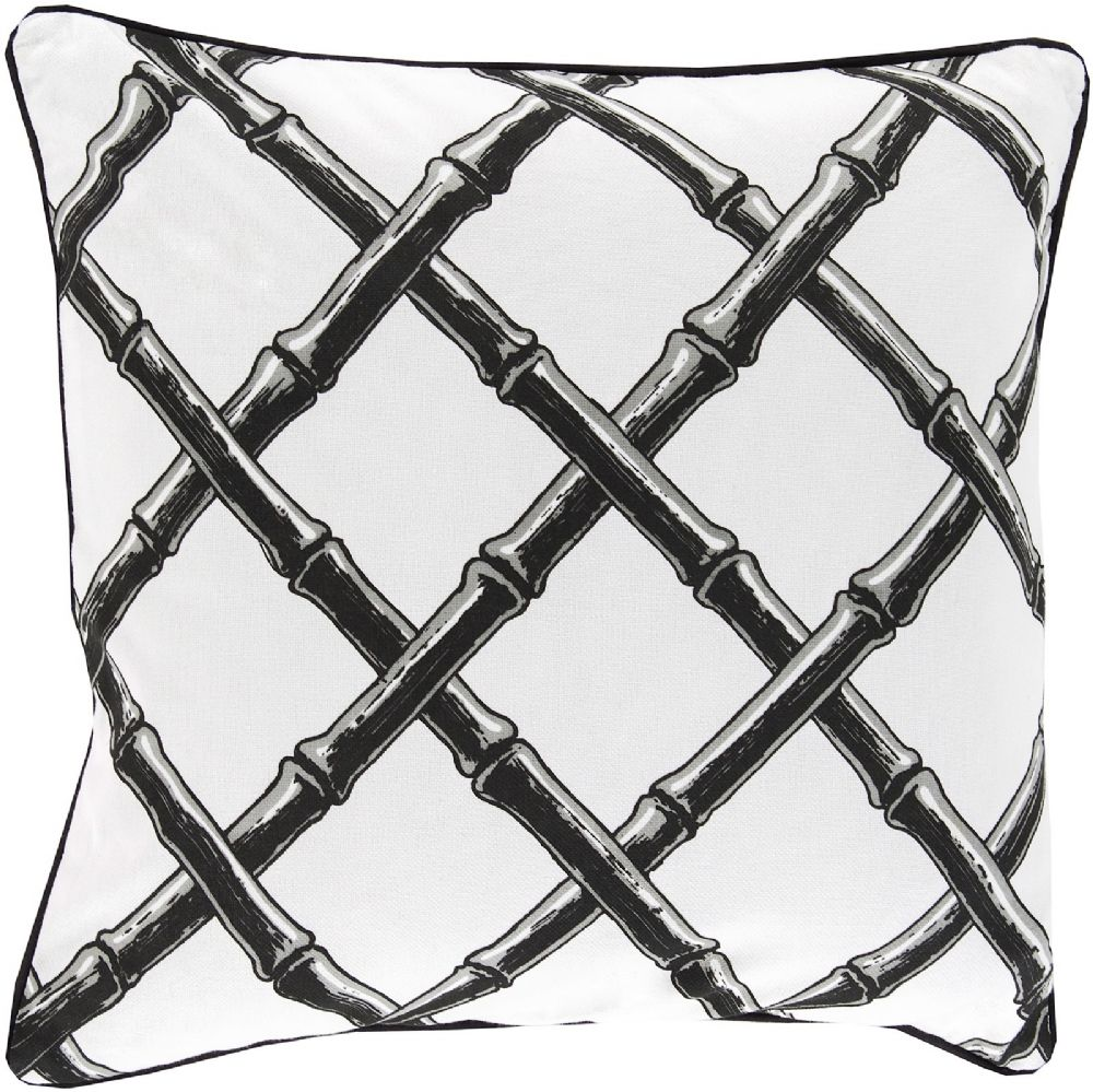 surya bamboo lattice contemporary decorative pillow collection