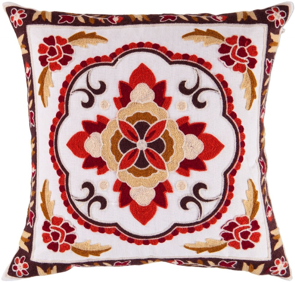 surya botanical contemporary decorative pillow collection