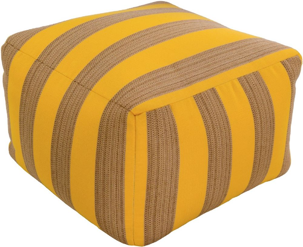 surya finn solid/striped pouf/ottoman collection