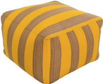 Surya Solid/Striped Finn pouf/ottoman Collection