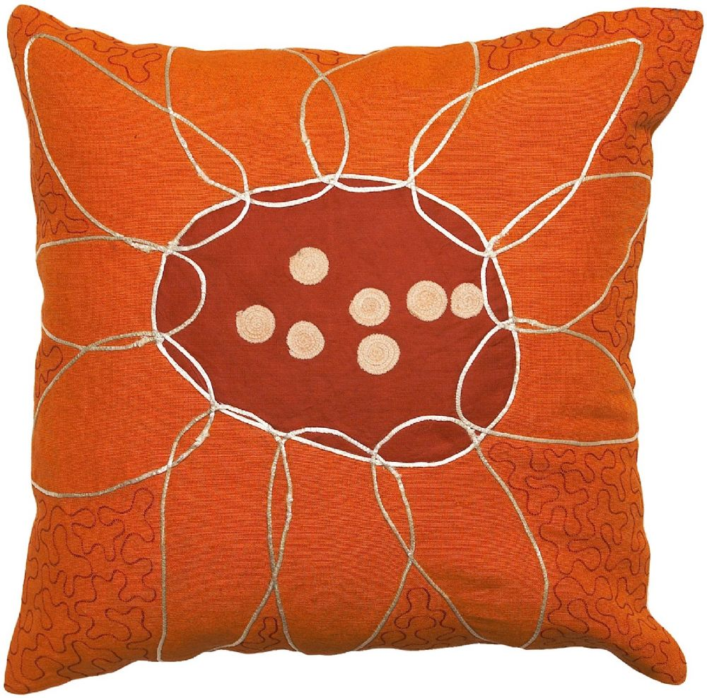 surya sunflower contemporary decorative pillow collection