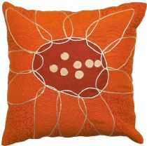 Surya Contemporary Sunflower pillow Collection