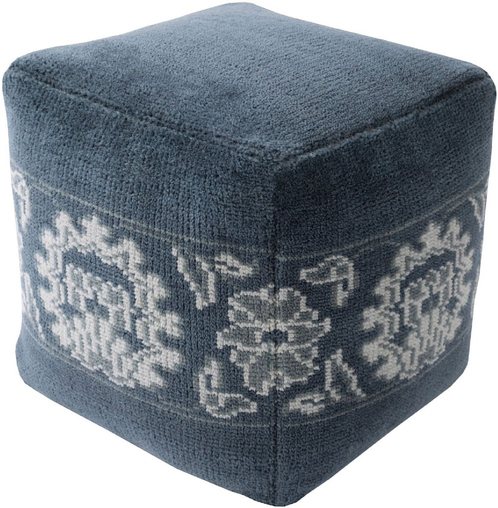 surya hazel contemporary pouf/ottoman collection