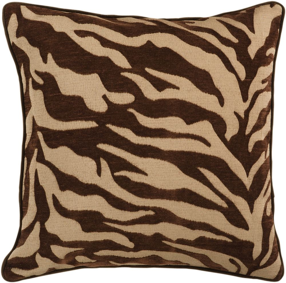 surya velvet zebra animal inspirations decorative pillow collection