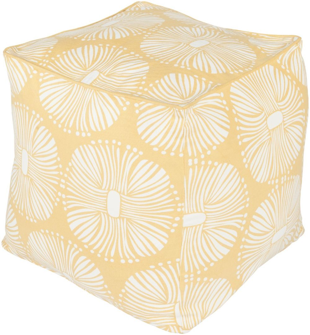 surya kate spain contemporary pouf/ottoman collection