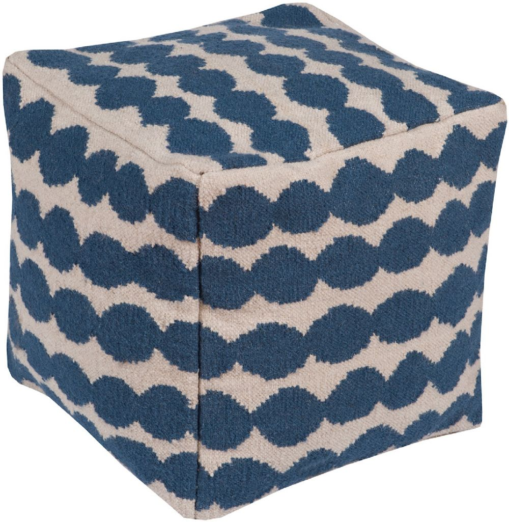 surya melanie contemporary pouf/ottoman collection