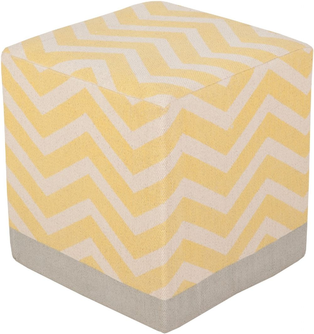 surya millie contemporary pouf/ottoman collection