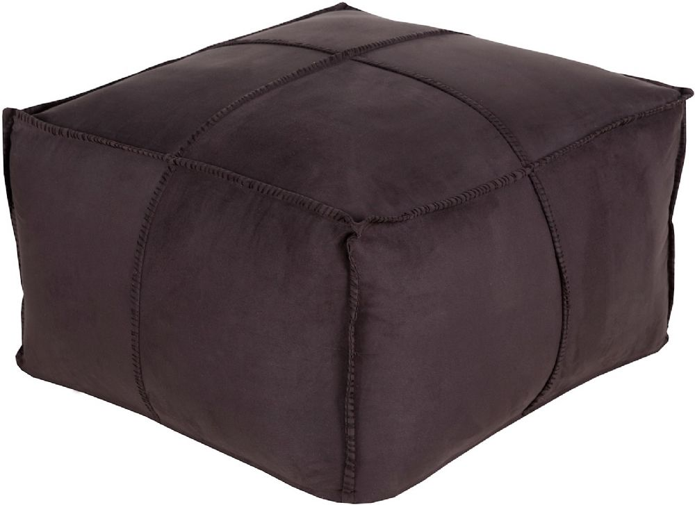 surya obsidian solid/striped pouf/ottoman collection